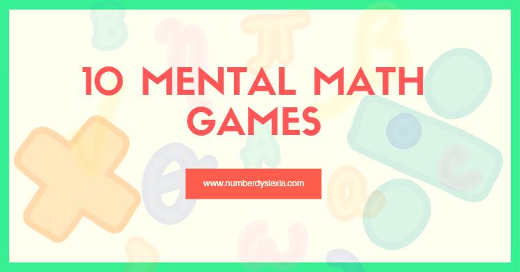 list of mental math games