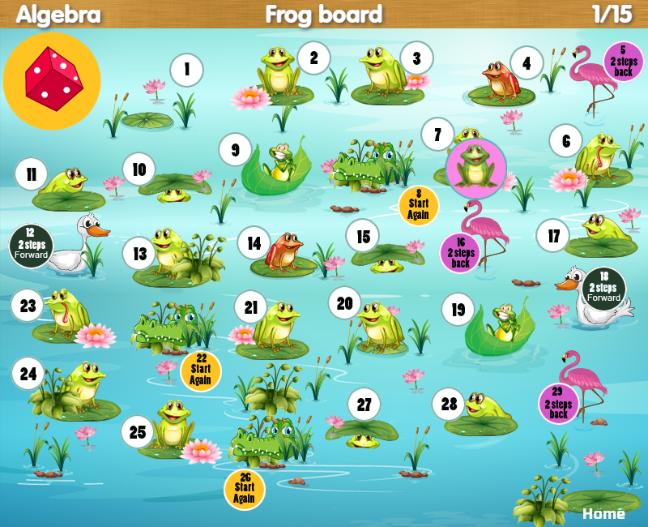 algebra crocodile board game