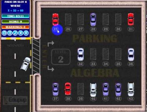 parking algebra game
