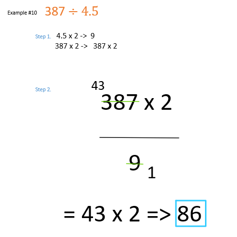 decimal division examples when  dividend is a whole number and divisor is a decimal number converted to fraction