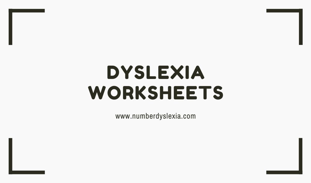 free printable dyslexia worksheets with pdf version