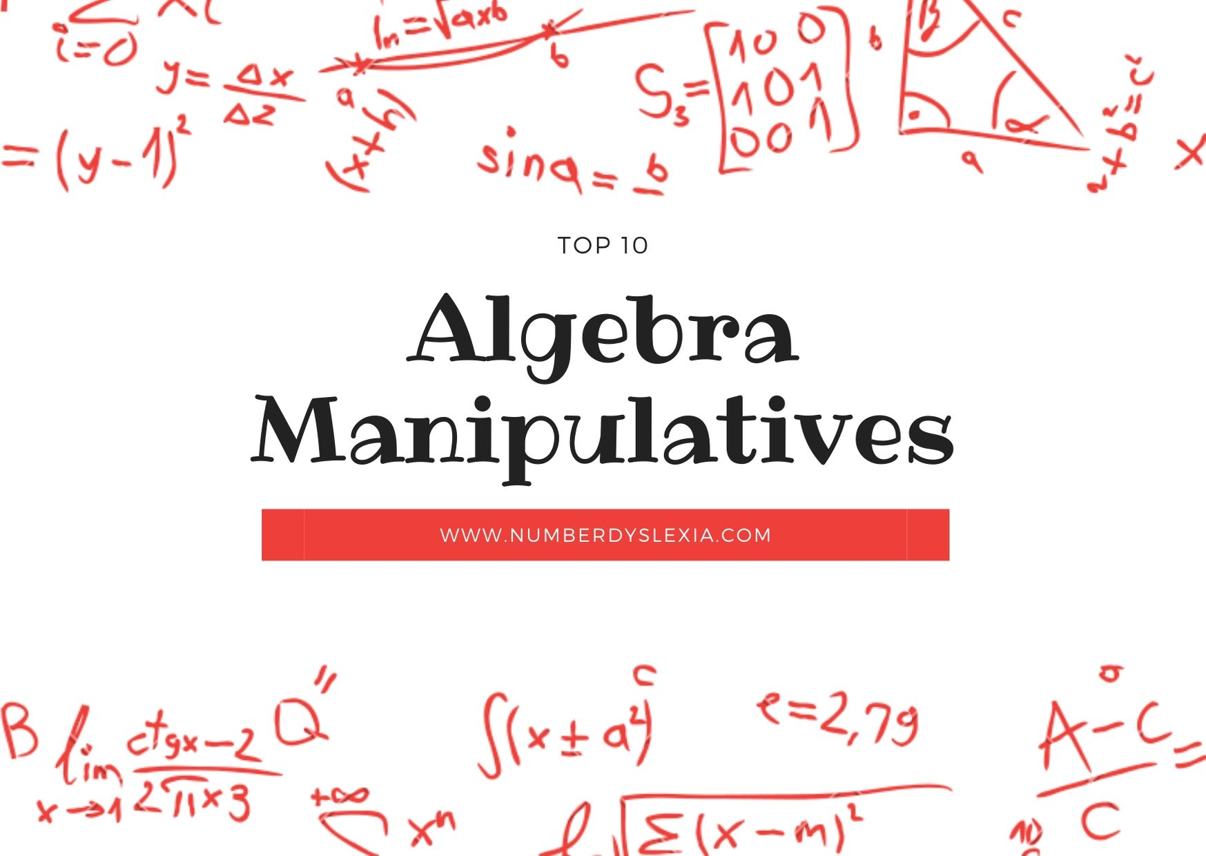 a list of top 10 manipulatives for algebra