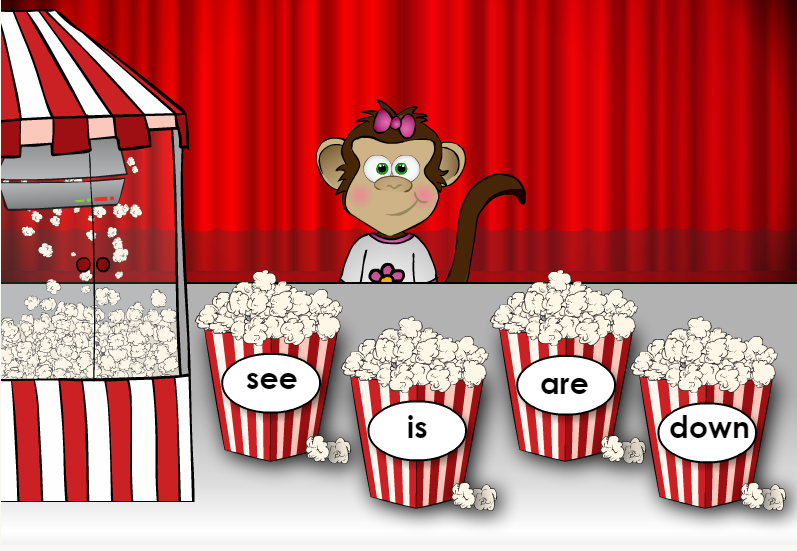 popcorn words free online dyslexia games