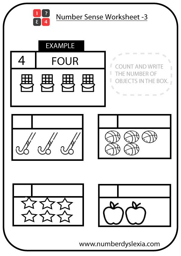 Free Printable Number Sense Worksheet for Kindergarten [PDF-3]