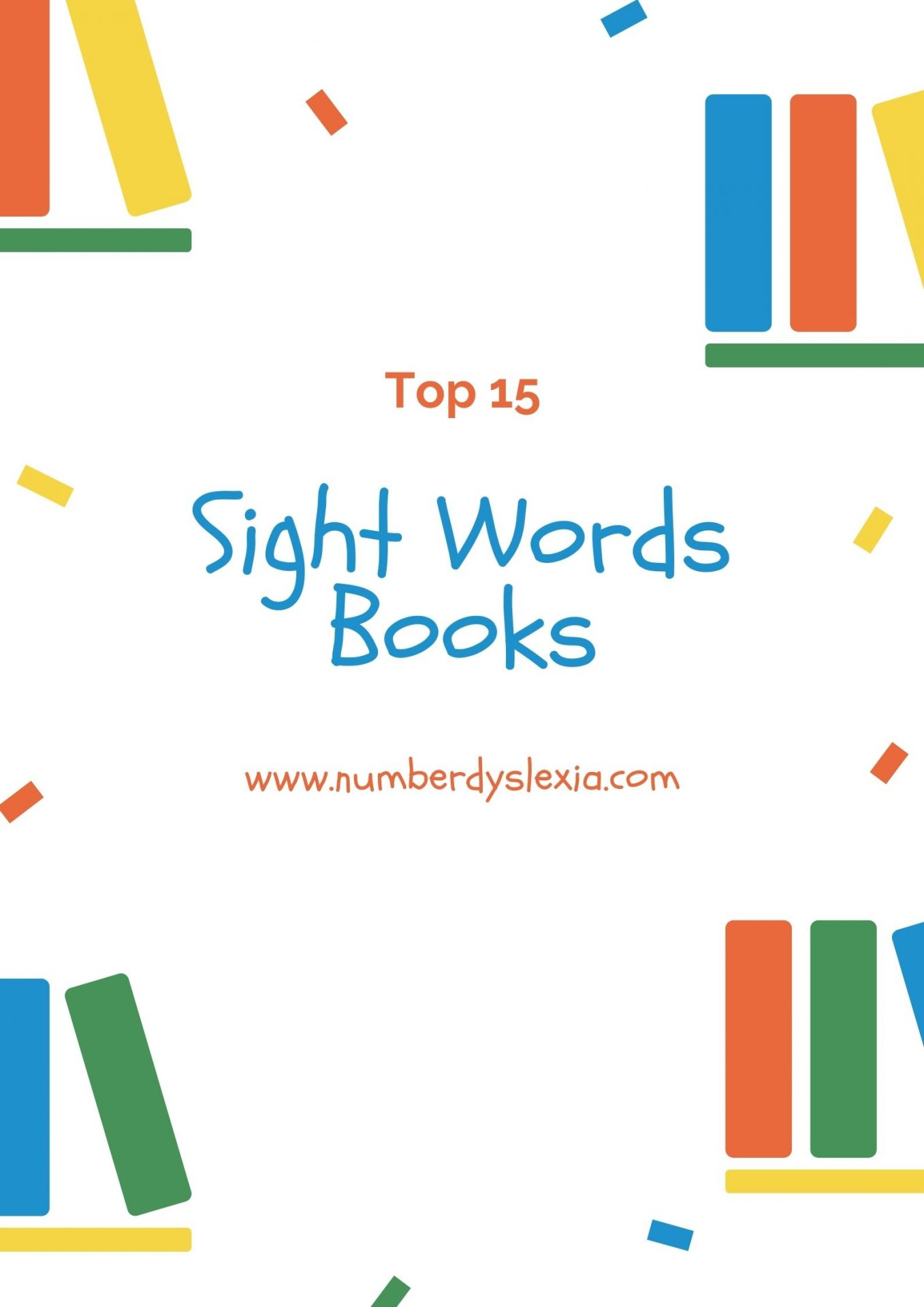 List of top 15 books for learning sight words