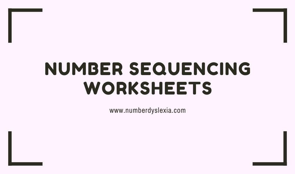 Free printable number sequencing worksheet for kindergarten and preschool with pdf