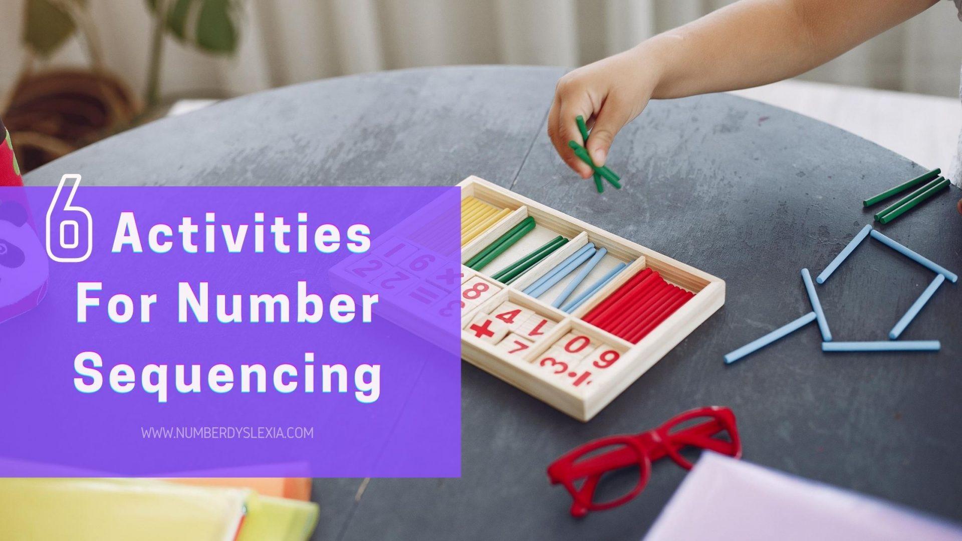 List of top 6 activities for number sequencing for kindergarteners and preschoolers