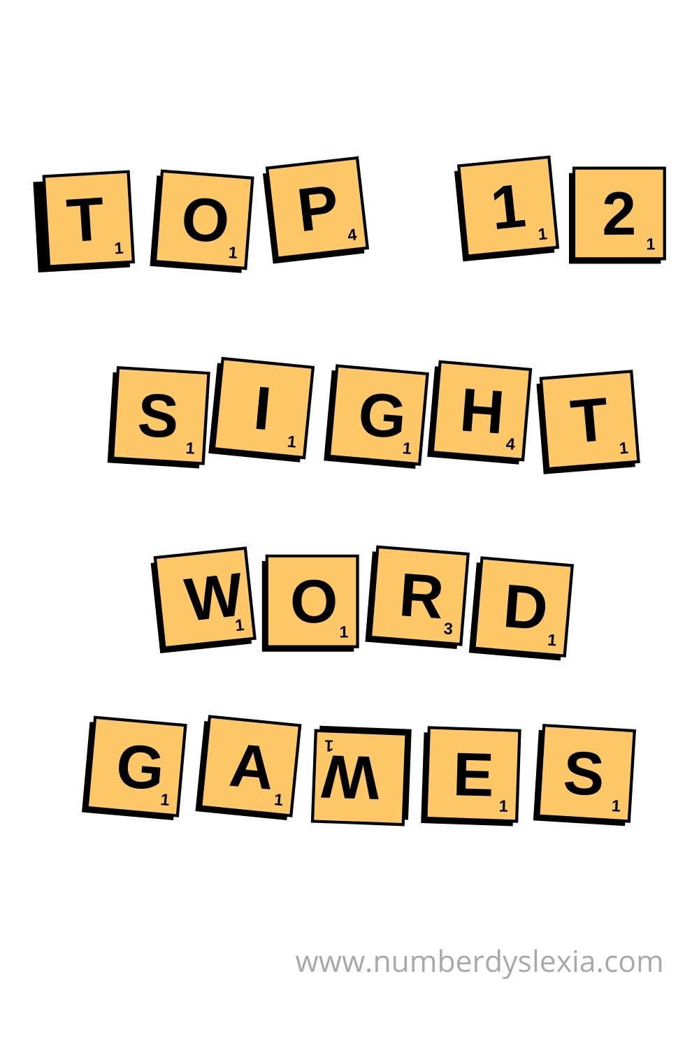 A list of top 12 sight word games