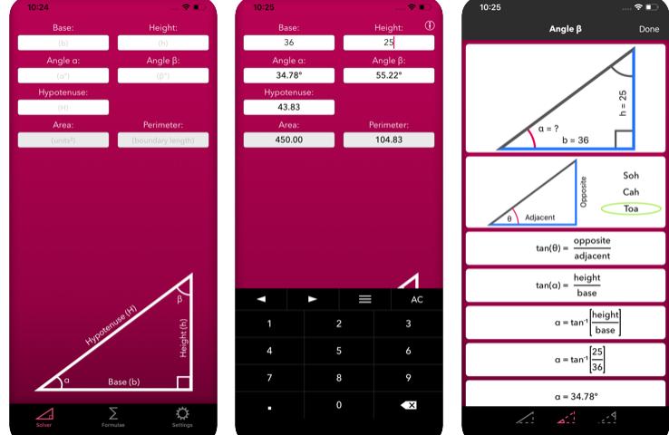 trigonometry help app for learning trigonometry