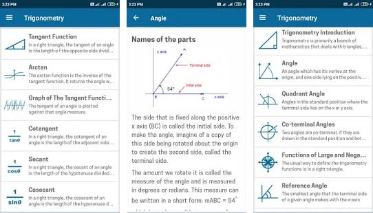 trigonomtery mathematics app for learning trigonometry
