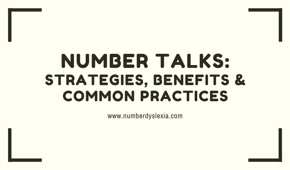 number talks strategies and its benefits