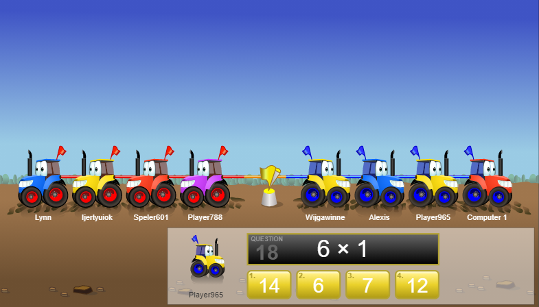 Tug Team Multiplication Subitizing Game