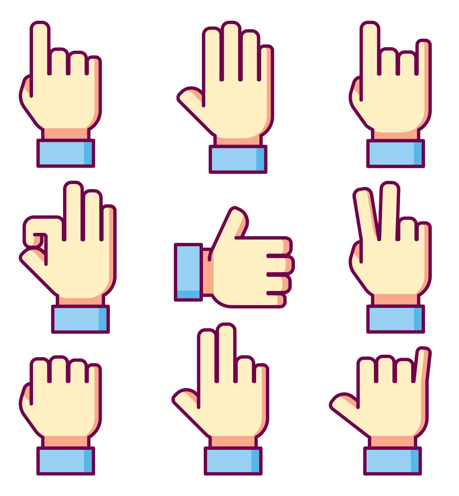 hand gestures number talks