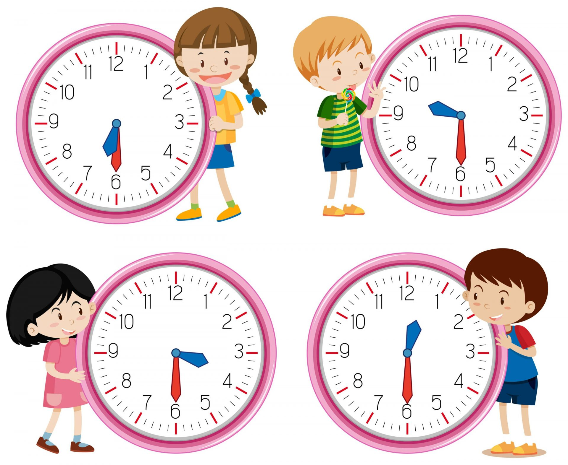 clock dial fraction kids learning