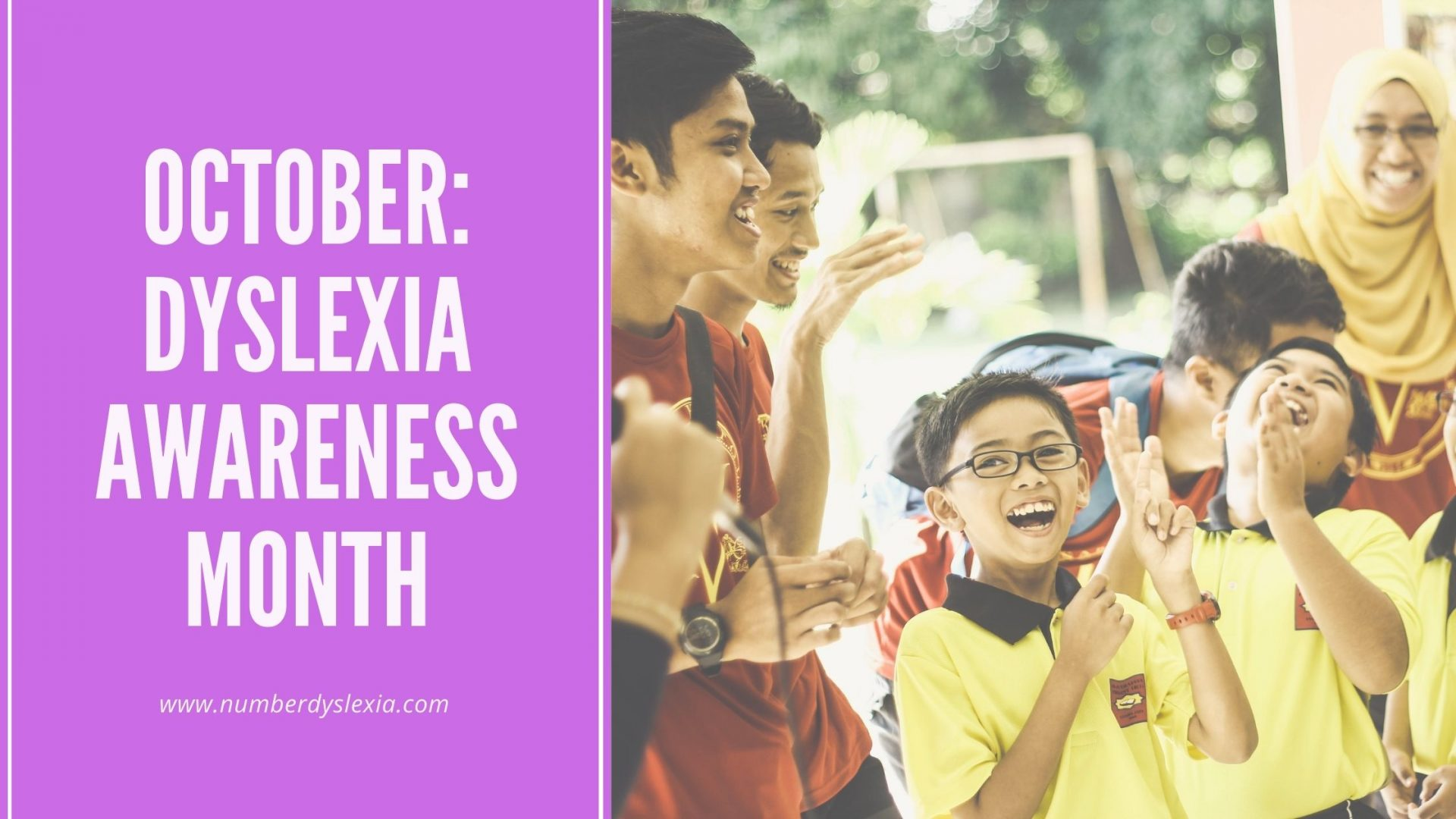 OCtober dyslexia awareness month poster