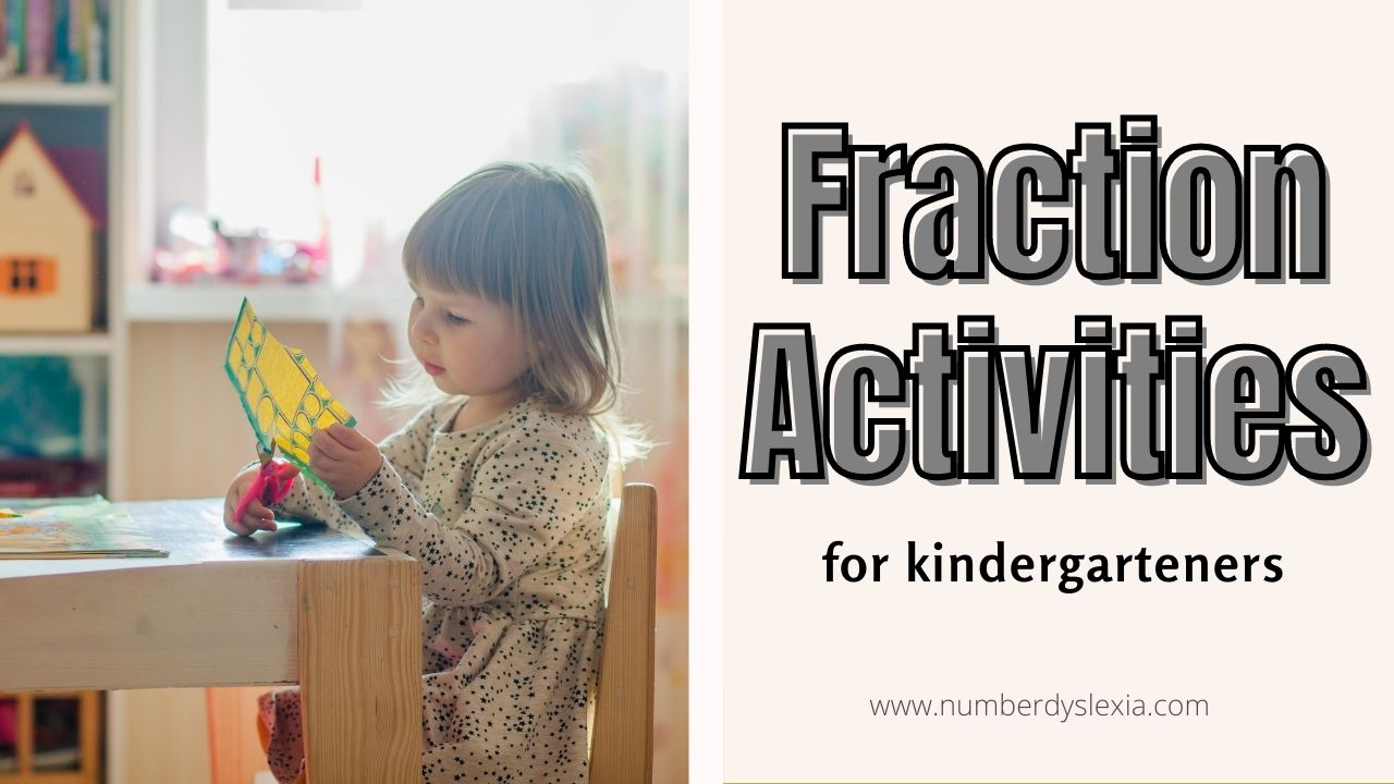 List of top 6 activities for teaching fractions to kindergarteners