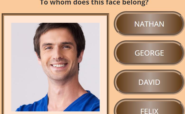 Face memory game