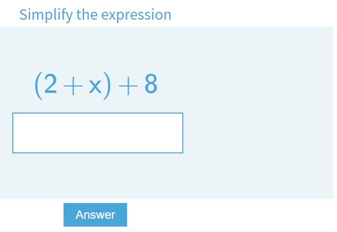 Online Algebra Quizzes