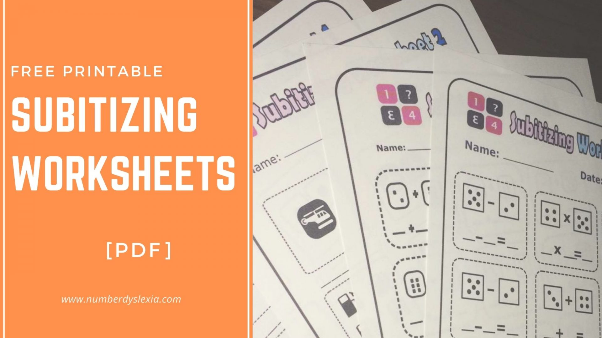 Free Printable Subitizing Worksheets PDF