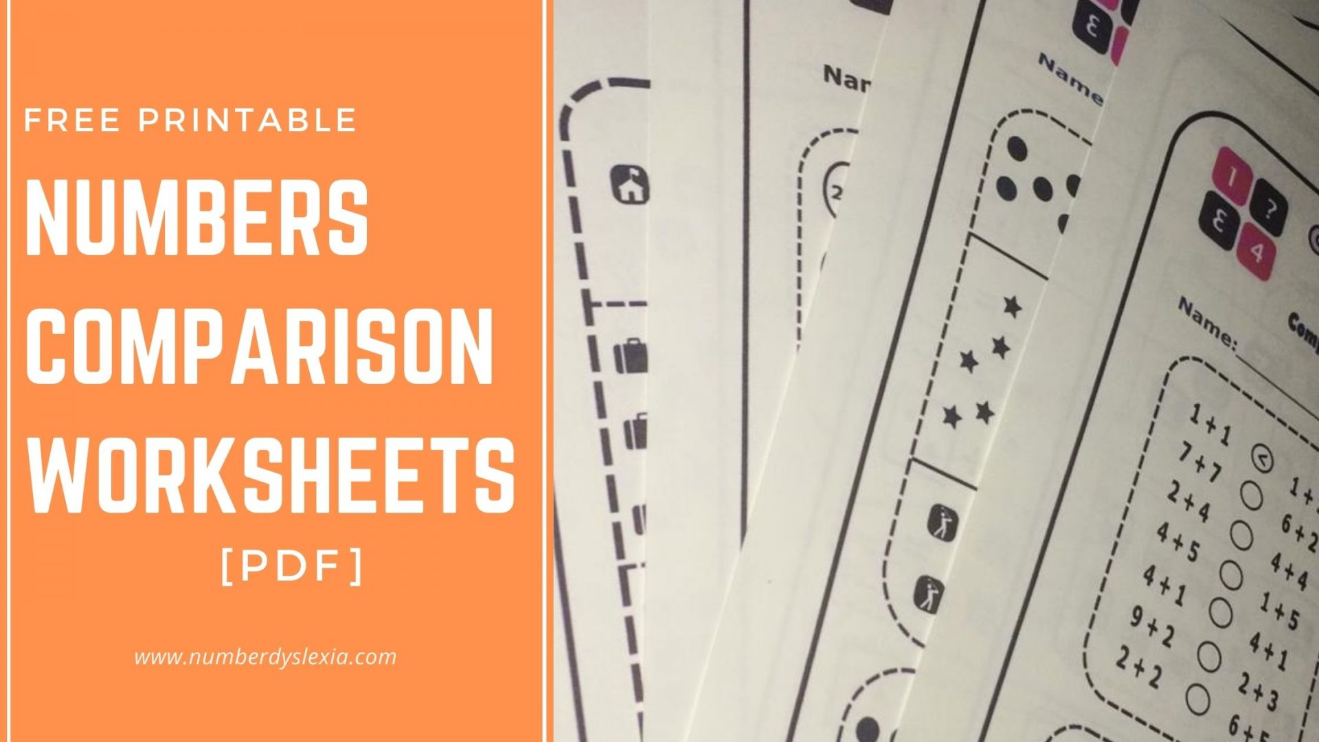 Free Printable Comparing numbers worksheets for kindergarten [PDF]