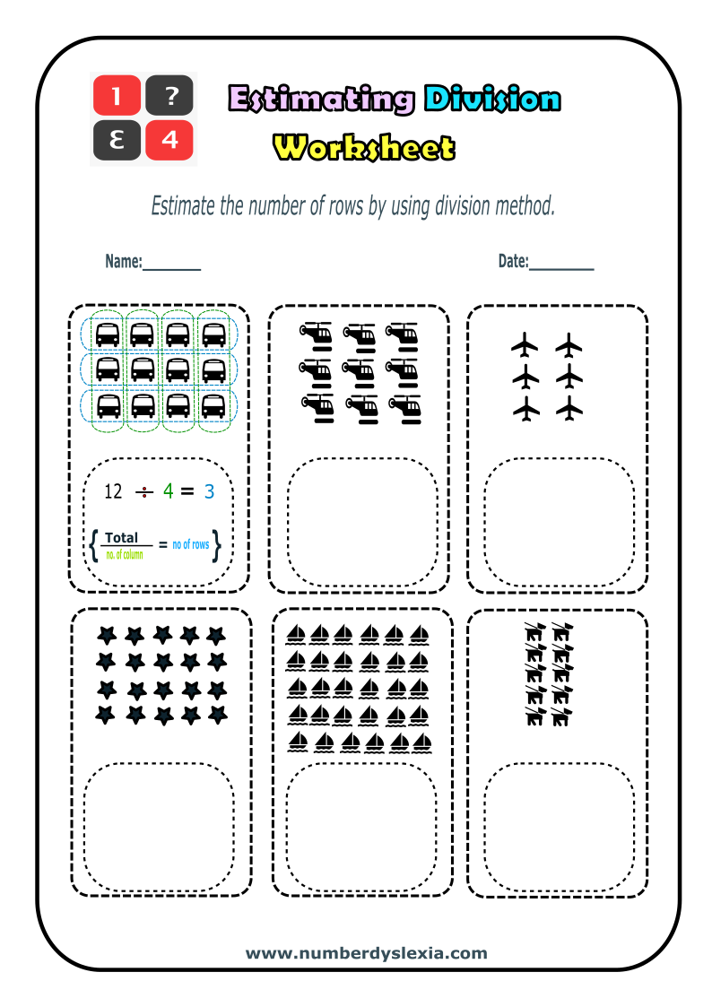 Free Printable Estimating Division worksheet 3 [PDF]