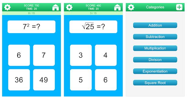Math Games playstore game