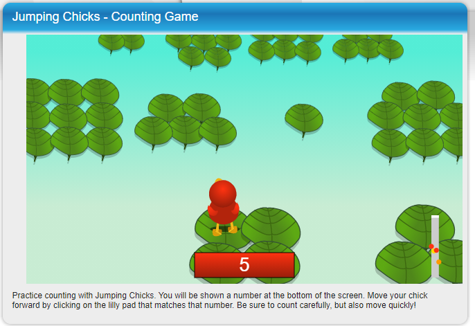 Jumping Chicks Counting Game