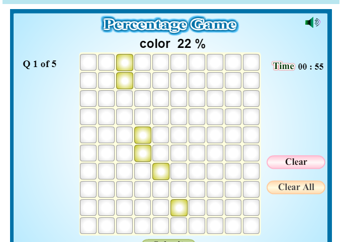 Percentage Game for Kids