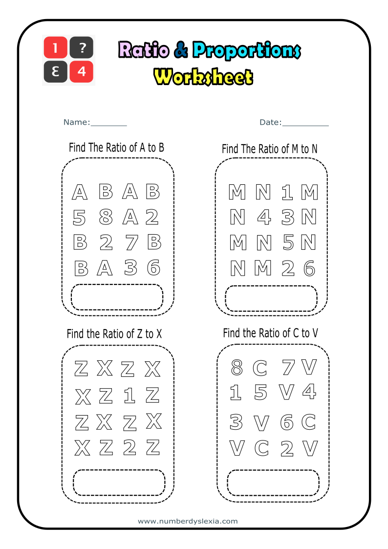 Free Printable Ratio and Proportions Worksheet 3 [PDF]