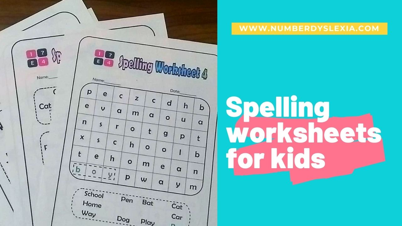 Free Printable Spelling Worksheets for grade 1 to 4 [PDF]