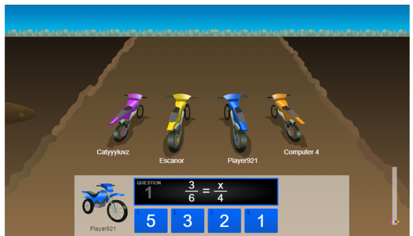 Dirt Bike Proportions Game