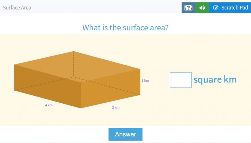 What is the Surface Area? game