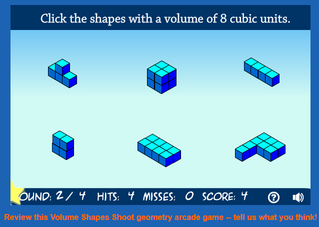 Volume Shapes Shoot  game
