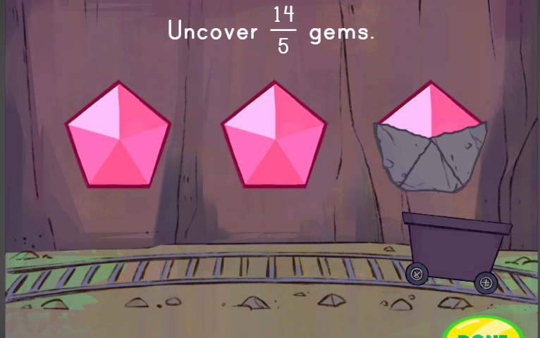 Converting Fractions with Gems