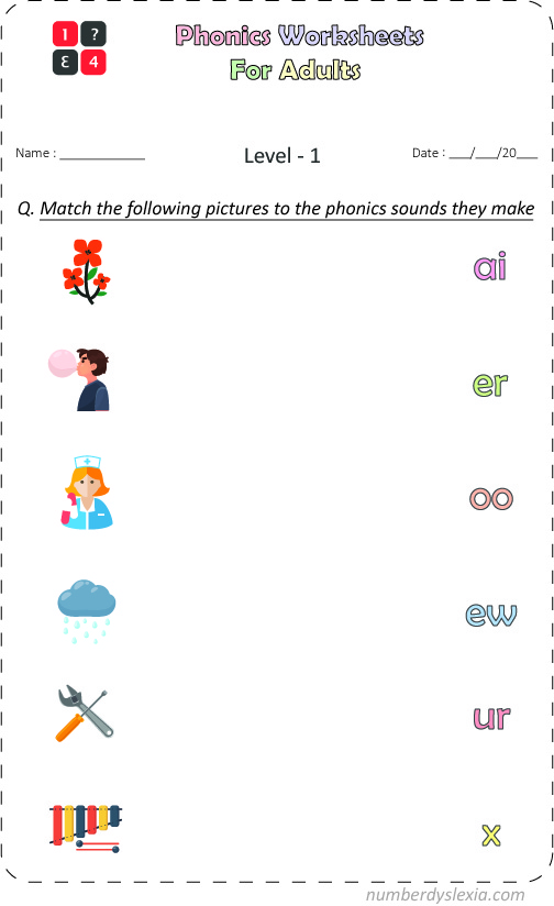 Free Printable Phonics Worksheets for Adults [PDF]