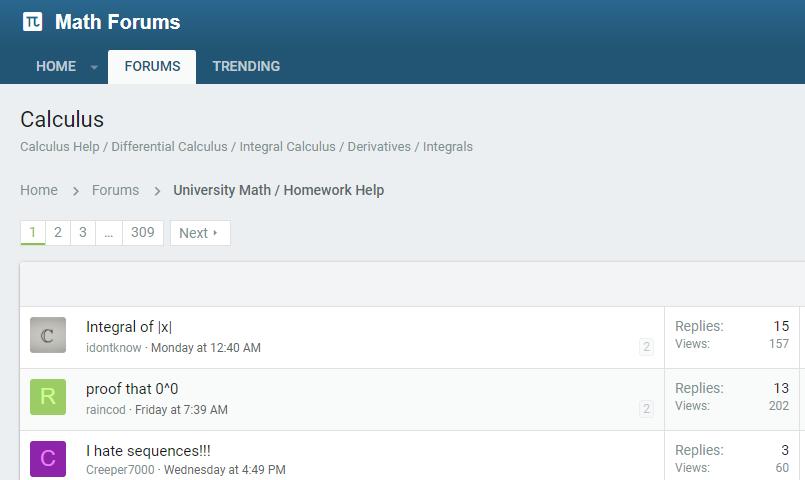 Math Forums
