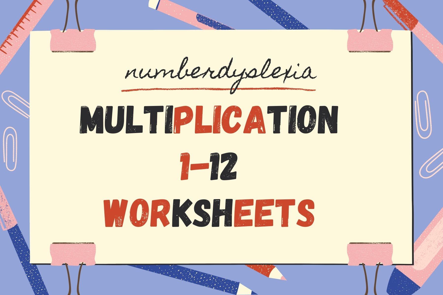 Free Printable Multiplication 1-12 Worksheets [PDF]