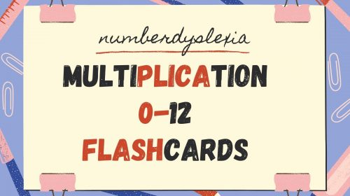 Free Printable Multiplication 0-12 Flashcards with pdf