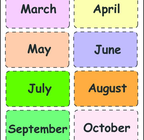 Free Printable Months Of The Year Charts  [PDF]