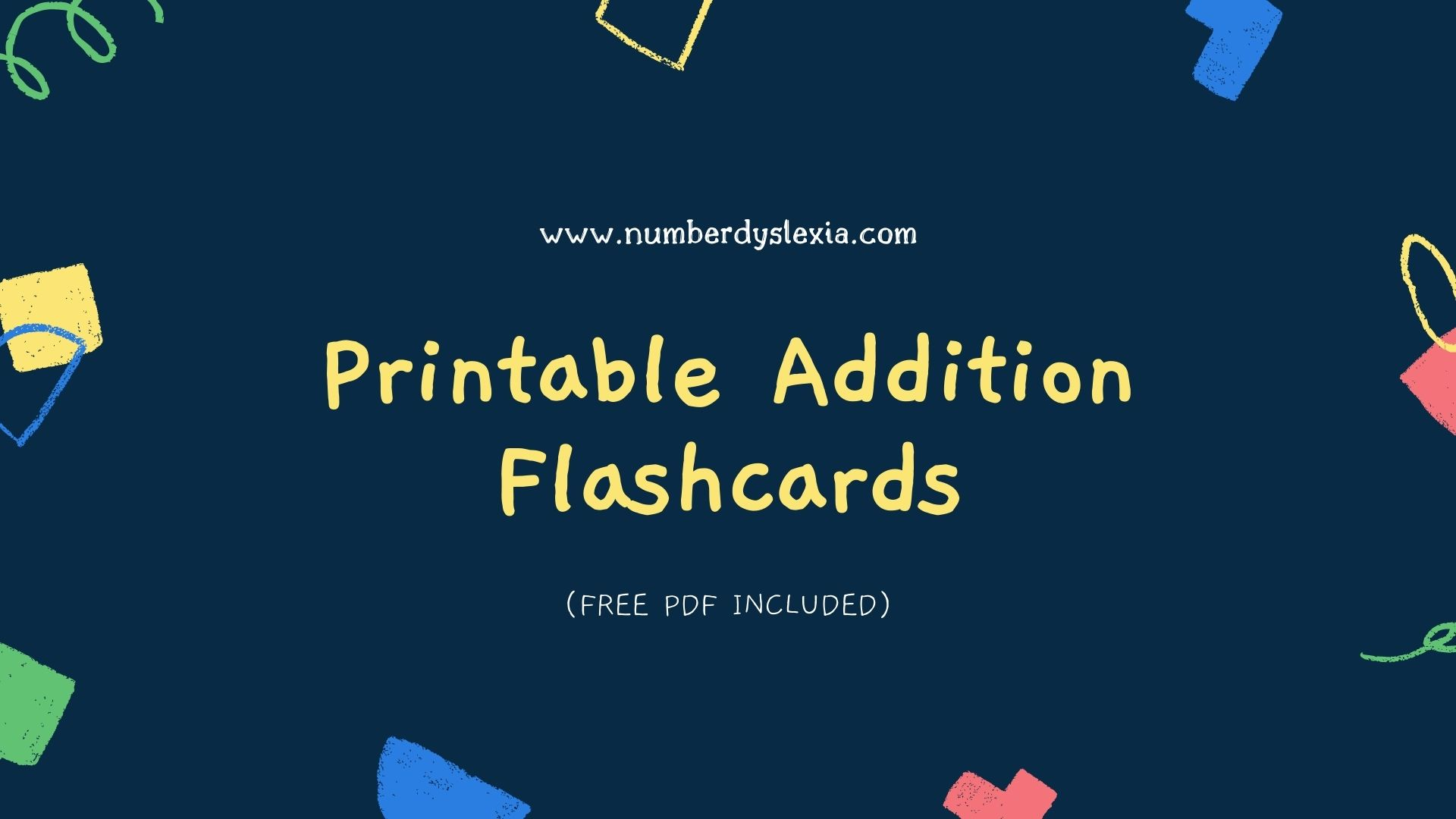 Printable Addition Flash Cards with Free PDF
