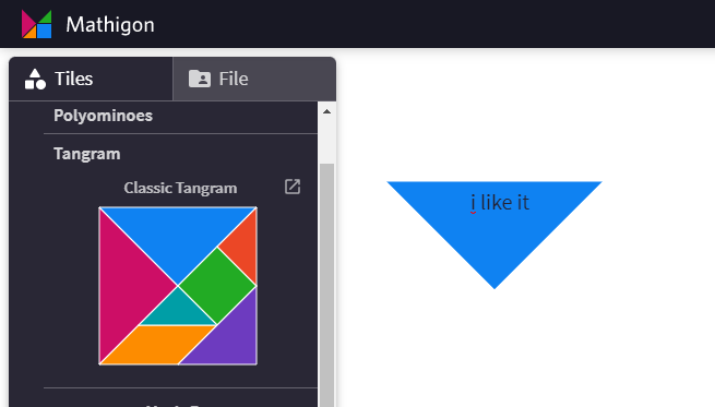 online polypad tangram
